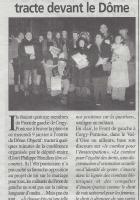 Le Front de Gauche tracte devant le Dôme, la Gazette du 16/01