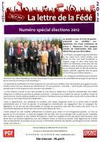 La Lettre de la Fédé : numéro spécial élections 2012