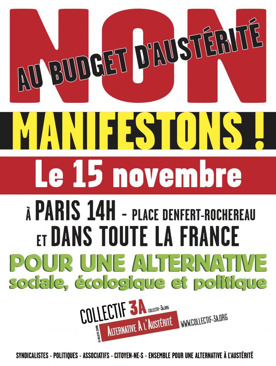 Communiqué du Front de Gauche à propos du rassemblement du 15 novembre
