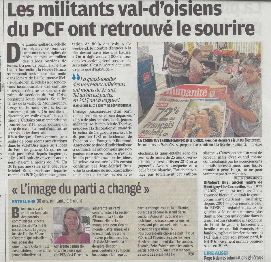 La Fête de l'Huma dans le Parisien.... Partie 1, le 14/09