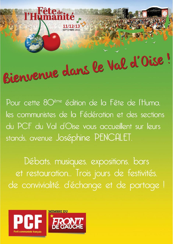 Fête de l'Humanité : Programme de l'espace du Val d'Oise