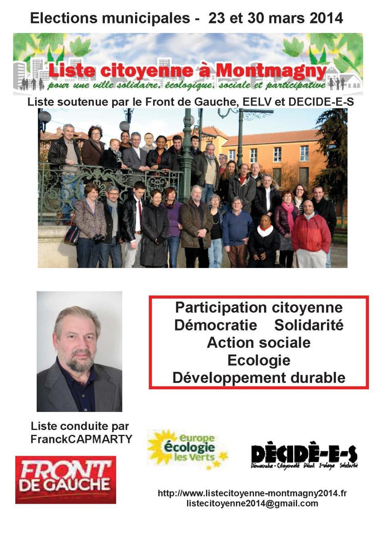 Liste citoyenne à Montmagny