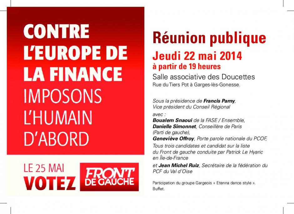 Garges : Meeting le 22 mai